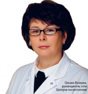 Оксана Волкова, руководитель сети Центров косметологии